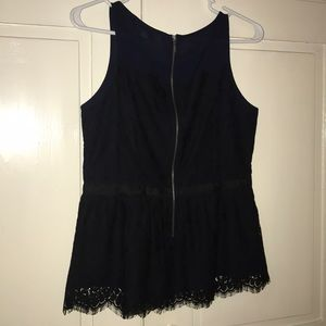 LOFT Tops - Loft lace peplum tank top